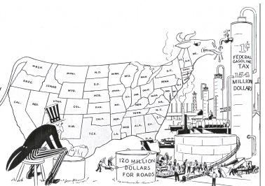 Uncle Sam and highways cartoon, Deal: & Daddy