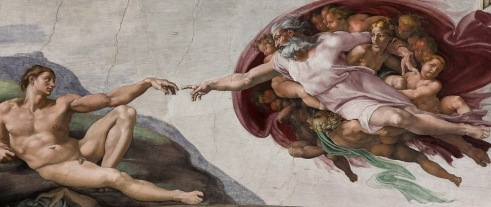 Cistine Chapel, Adam and God