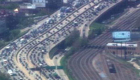 Kennedy-congested-and-empty-tracks-Labor-Day